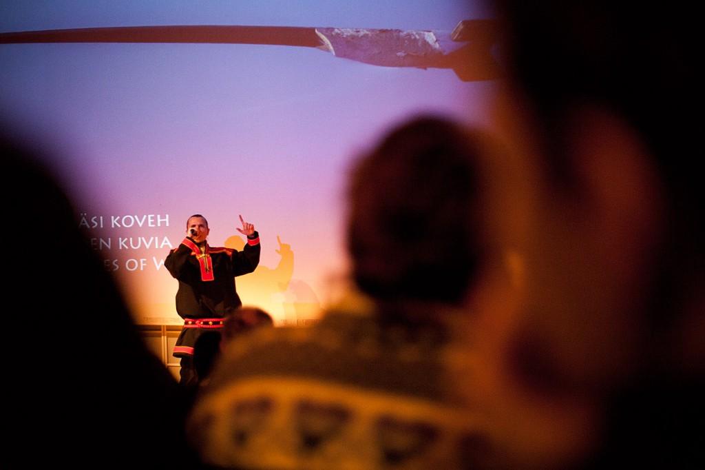 Räppäri Amoc eli Mikkâl Morottaja esiintyi ääriään myöten täydessä Siidan auditoriossa viime lokakuussa.